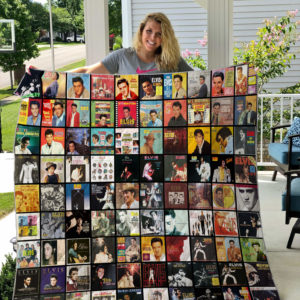 Elvis Presley All Albums Quilt Blanket