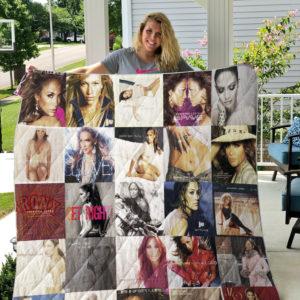 Jennifer Lopez 2 Quilt Blanket
