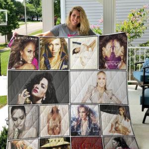 Jennifer Lopez 3 Quilt Blanket