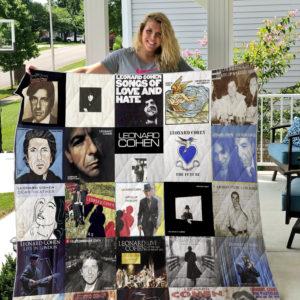 Leonard Cohen Quilt Blanket
