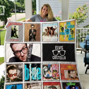 Elvis Costello Quilt Blanket