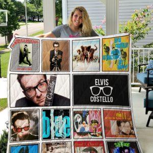 Elvis Costello Quilt Blanket
