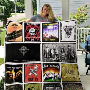 Black Label Society Quilt Blanket