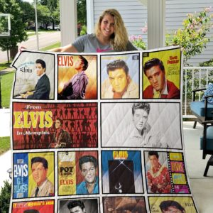 Elvis Presley Three Quilt Blanket
