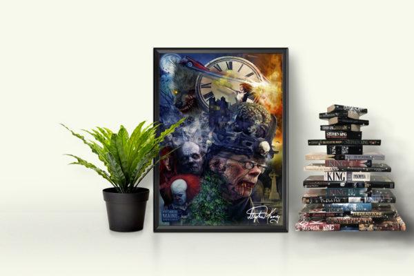 Stephen King Art - Horror Filme, Bilder, Schriftsteller Poster