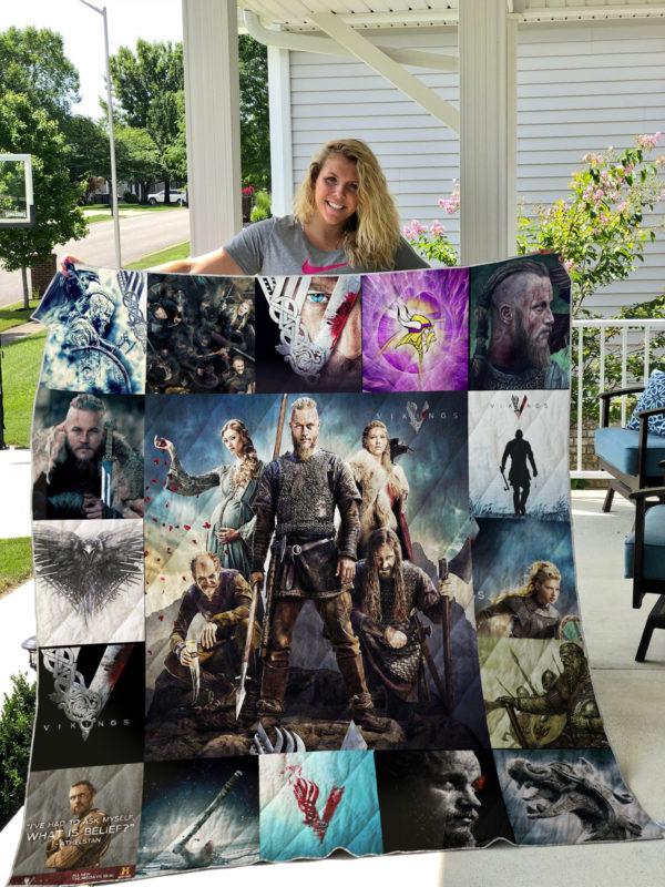 Vikings 2 Quilt Blanket