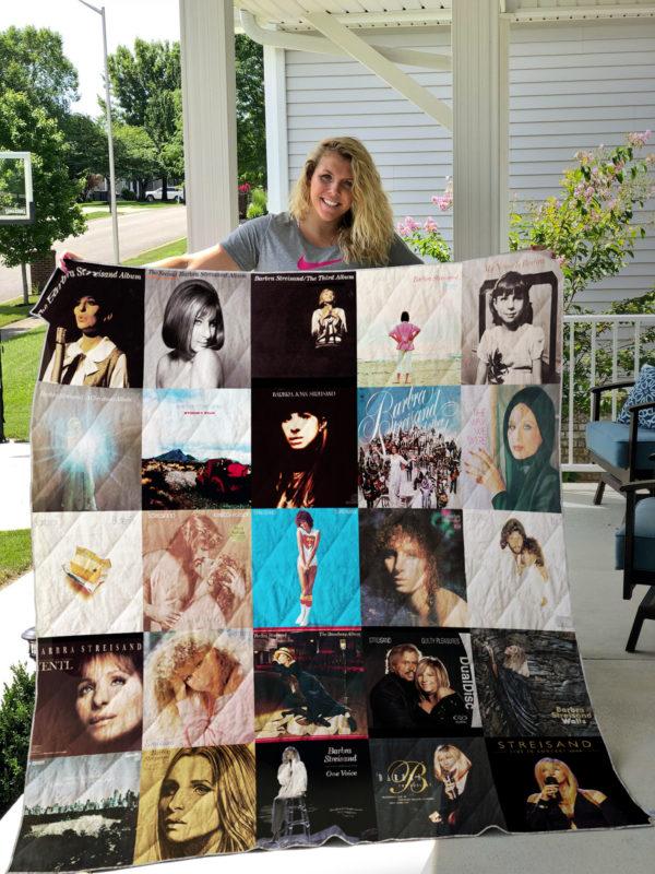 Barbra Streisand Style 2 Quilt Blanket