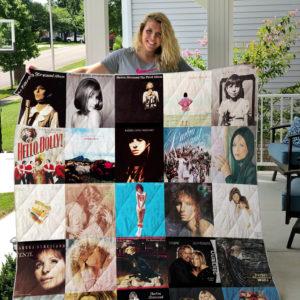 Barbra Streisand Style 3 Quilt Blanket