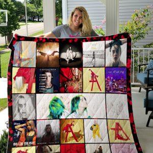 Billie Elish Quilt Blanket