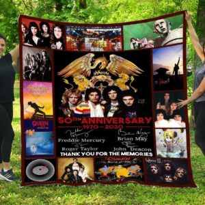 50th Anniversary Of Queen Band All Season Plus Size Quilt Blanket