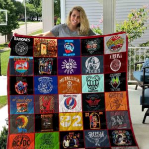 80s Rock Band Music All Season Plus Size Quilt Blanket