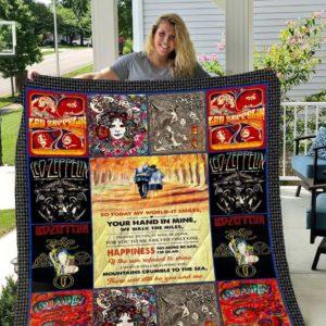 Led Zeppelin V2 Quilt Blanket All Season Plus Size Quilt Blanket