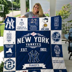 New York Yankees Quilt Blanket 03
