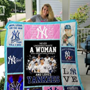 New York Yankees Quilt Blanket- Custom Quilt 01