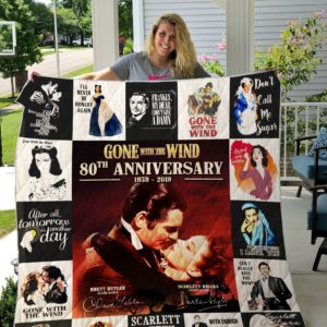 Gone With The Wind 80th Anniversary All Season Plus Size Quilt Blanket For Fans Ver 17