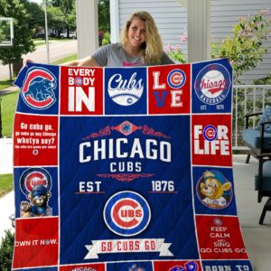 Chicago Cubs All Season Plus Size Quilt Blanket
