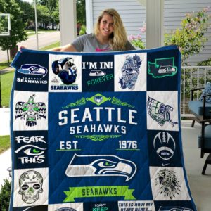 Seattle Seahawks Quilt Blanket 01