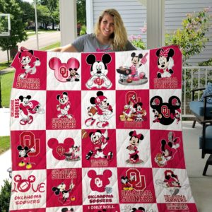 Oklahoma Sooner+Mickey Quilt Blanket