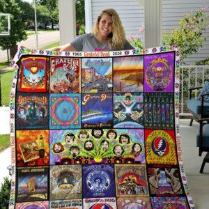 Grateful Dead Abum All Season Plus Size Quilt Blanket