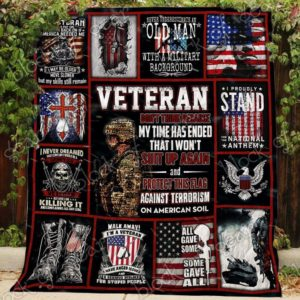 American Proud Veteran All Gave Some Some Gave All Quilt Blanket Great Customized Blanket Gifts For Birthday Christmas Thanksgiving