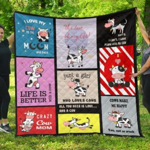 Life Is Better With A Cow Quilt Blanket Great Customized Blanket Gifts For Birthday Christmas Thanksgiving