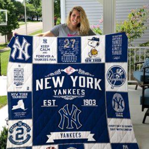 New York Yankees 17 Quilt Blanket