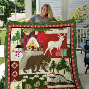Christmas Animal Quilt Blanket Great Customized Gifts For Birthday Christmas Thanksgiving Perfect Gifts For Animal Lover
