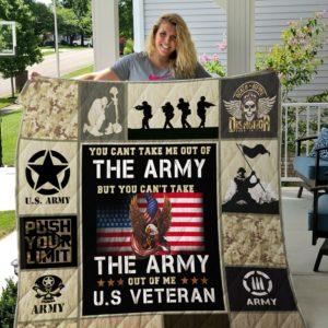 Army Veteran Quilt Blanket