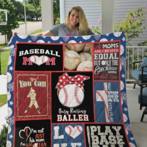 All Moms Are Created Equal But Only The Luckiest Become Baseball Moms Quilt Blanket Great Customized Blanket Gifts For Birthday Christmas Thanksgiving Mother's Day
