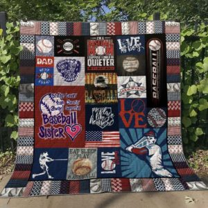 Brother Loving Team Cheering Always Supporting Baseball Sister Quilt Blanket Great Customized Blanket Gifts For Birthday Christmas Thanksgiving