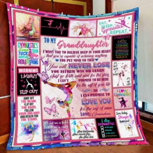 Personalized Gymnastics To My Granddaughter From Grandma I Want You To Believe Quilt Blanket Great Customized Gifts For Birthday Christmas Thanksgiving