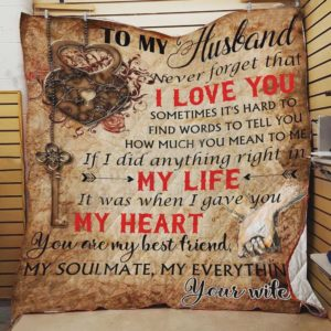 Personalized To My Husband Quilt Blanket From Wife You Are My Best Friend My Soulmate My Everything Great Customized Blanket Gifts For Birthday Christmas Thanksgiving