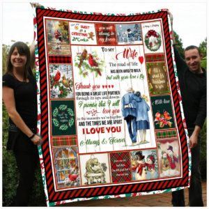 Personalized To My Wife From Husband I Love You Always And Forever Quilt Blanket Great Customized Gifts For Birthday Christmas Thanksgiving Wedding Valentine's Day