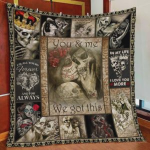 Halloween Skull In My Life I Love You More Quilt Blanket Great Customized Blanket Gifts For Birthday Christmas Thanksgiving