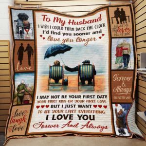 Personalized To My Husband From Wife I Love You Forever And Always Quilt Blanket Great Customized Gifts For Birthday Christmas Thanksgiving Wedding Valentine's Day