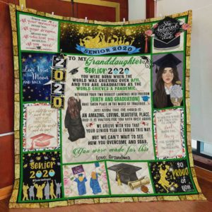 Personalized To My Granddaughter Quilt Blanket From Grandma Great Customized Blanket Gifts For Birthday Christmas Thanksgiving