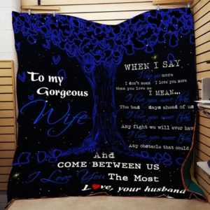 Personalized Family To My Wife From Husband When I Say I Love You More Quilt Blanket Great Customized Gifts For Birthday Christmas Thanksgiving Wedding Valentine's Day