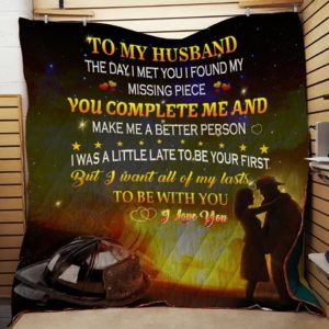 Personalized Firefighter To My Husband From Wife I Found My Missing Piece Quilt Blanket Great Customized Gifts For Birthday Christmas Thanksgiving Wedding Valentine's Day