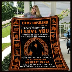 Personalized Spartan To My Husband From Wife Never Forget That I Love You Quilt Blanket Great Customized Gifts For Birthday Christmas Thanksgiving Wedding Valentine's Day