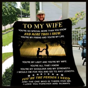 Personalized Family To My Wife From Husband You're So Special More Than You Know Quilt Blanket Great Customized Gifts For Birthday Christmas Thanksgiving Wedding Valentine's Day