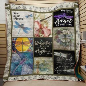 Dragonfly Live In The Moment Quilt Blanket Great Customized Blanket Gifts For Birthday Christmas Thanksgiving