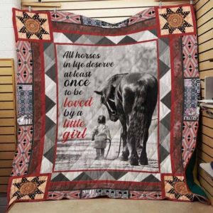 All Horses In Life Deserve At Least Once To Be Loved By A Little Girl Quilt Blanket Great Customized Blanket Gifts For Birthday Christmas Thanksgiving