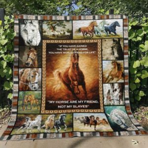 My Horse Are My Friend Not My Slaves Quilt Blanket Great Customized Blanket Gifts For Birthday Christmas Thanksgiving