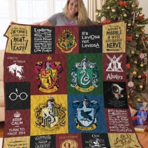 Harry Potter Keep Calm And Turn To Page 394 Quilt Blanket Great Customized Blanket Gifts For Birthday Christmas Thanksgiving
