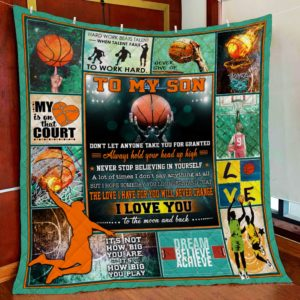 Personalized Basketball To My Son Quilt Blanket The Love I Have For You Will Never Change Great Customized Blanket Gifts For Birthday Christmas Thanksgiving