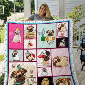 Pug Be Wild Quilt Blanket Great Customized Blanket Gifts For Birthday Christmas Thanksgiving