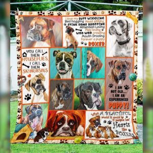 Boxer You Call Them Houseflies I Call Them Skyraisins Quilt Blanket Great Customized Blanket Gifts For Birthday Christmas Thanksgiving