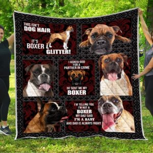 This Isn't Dog Hair It's Boxer Glitter Quilt Blanket Great Customized Blanket Gifts For Birthday Christmas Thanksgiving