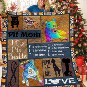 Pitbull Adore A Bull Quilt Blanket Great Customized Blanket Gifts For Birthday Christmas Thanksgiving