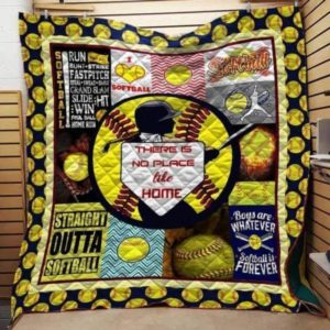 Straight Outta Softball Quilt Blanket Great Customized Blanket Gifts For Birthday Christmas Thanksgiving
